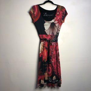 Desigual floral cotton dress